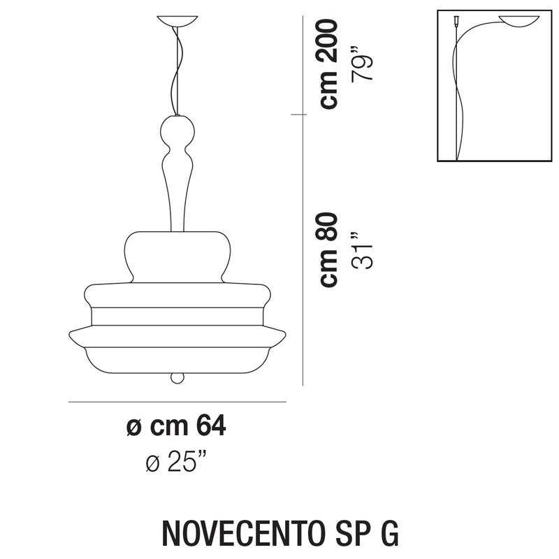 NOVECENTO SP G_Ø 64 cm x H 80 cm