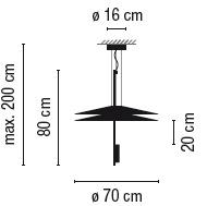1510_ ø 70 cm x H 80 cm; H max 200 cm