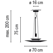 1540_ ø 70 cm x H 75 cm; H max 200 cm