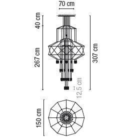 0374_ 150 cm x H 307 cm; 43 x LED 4.5 W
