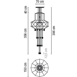 0375_ 150 cm x H 396 cm; 43  x LED 4.5 W