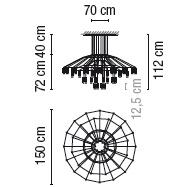 0376_ 150 cm x H 112 cm; 42 x LED 4.5 W
