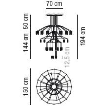 0377_ 150 cm x H 194 cm; 42 x LED 4.5 W