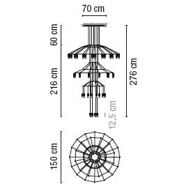 0378_ 150 cm x H 276 cm; 42 x LED 4.5 W