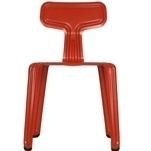 Pressed chair_ Rojo RAL 3000