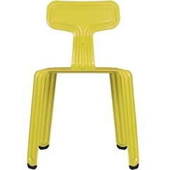 Pressed chair_ matt hot-mustard
