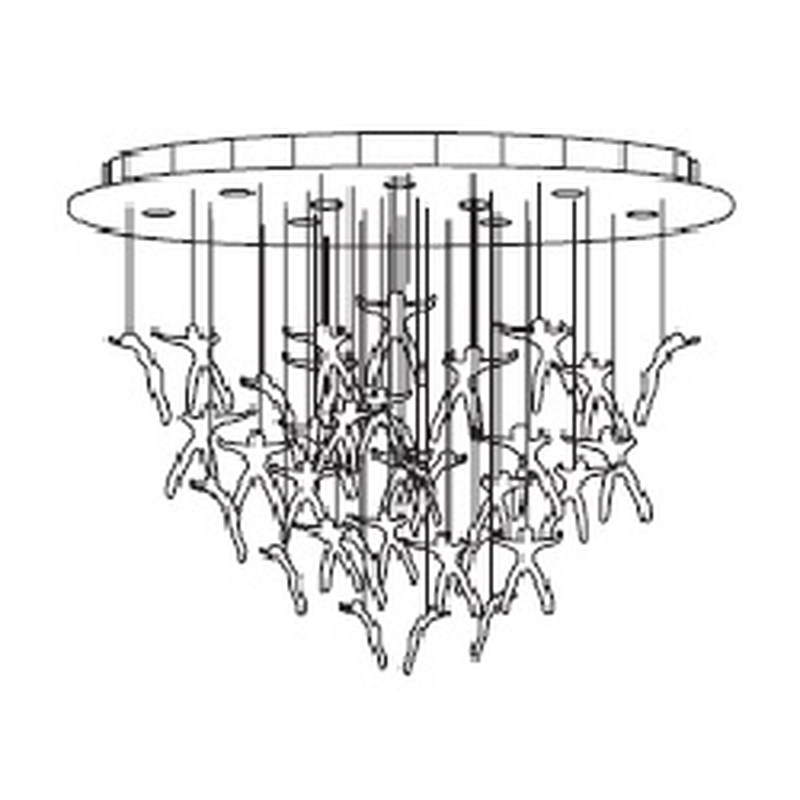 Q13S; 120 cm x 60 cm x H 190 cm; 36 angels - white canopy