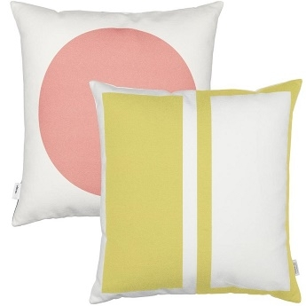 Rectangles (Senf) / Circle (rosa)