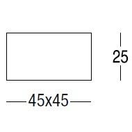 Difusor cuadrado_45 cm x 45 cm x H 25 cm