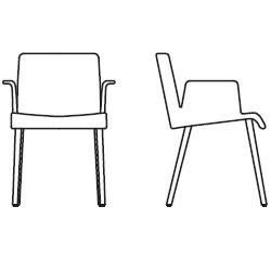 59 cm x 60 cm x H 81 cm, with armrests