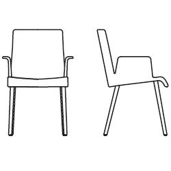 59 cm x 62 cm x H 89 cm, with armrests