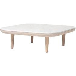 Fly Table SC4_ roble aceitado blanco & mármol Bianco Carrara_ 80 x 80 x H 26 cm