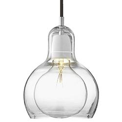 Mega Bulb_ transparent mit schwarzem Kabel