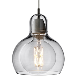 Mega Bulb_ Silber mit transparentem Kabel