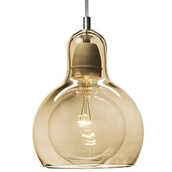 Mega Bulb_ gold mit transparentem Kabel