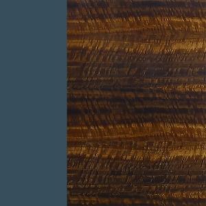 Azul petróleo / eucalipto frisé brillante