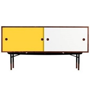 Yellow/white; without chest of drawers