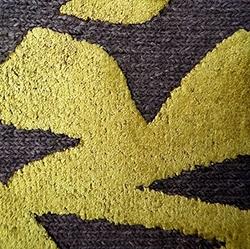Brush New Zealand Wool&Viscose_GB04/G02 - Graybrown/Greenyellow