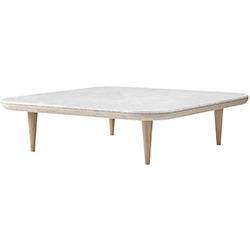 Fly Table SC11_ roble aceitado blanco & mármol Bianco Carrara_ 120 x 120 x H 32 cm