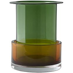Tricolore SH1_ malachite & cornaline_ Ø 18 x H 21 cm