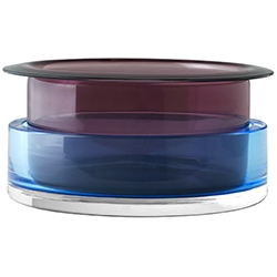 Tricolore SH3_ Topaz & rubis_ 22 x H 10,6 cm