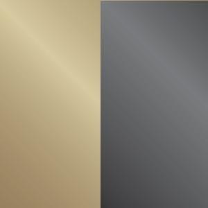 Oro chiaro lucido/Cromo nero lucido