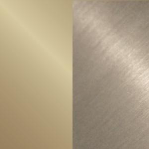 Oro chiaro lucido/Bronzo satinato opaco