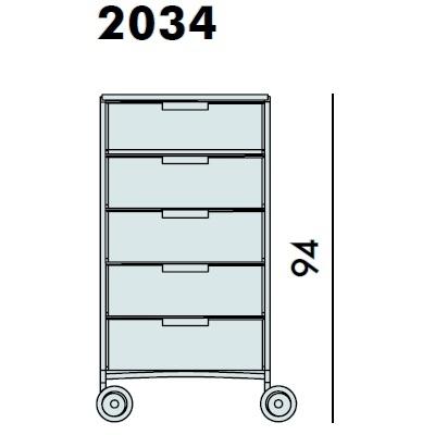 2034_ 49 x 47.5 x H 94 cm
