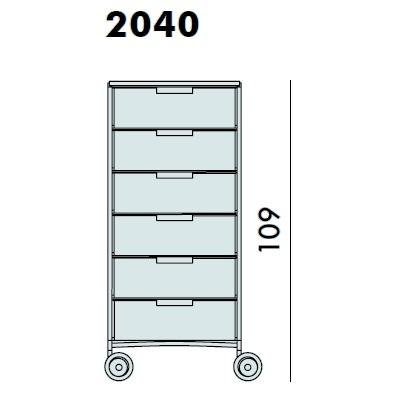2040_ 49 x 47.5 x H 109 cm