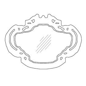 ROKOKÓ04_160 x 6 x H 117 cm