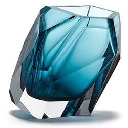 Crystal Rock Vase_Blue