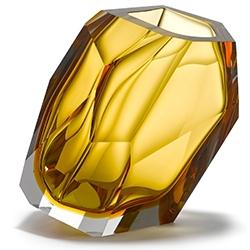 Crystal Rock Vase_Amber