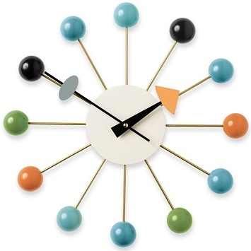 Ball Clock_ Multicolour
