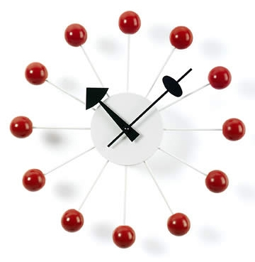 Ball Clock_ Red