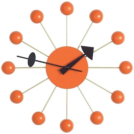 Ball Clock_ Orange