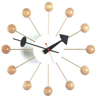 Ball Clock_ Beech