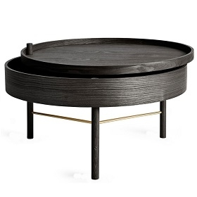Turning Table_Black stained Ash/Brass