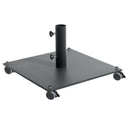 anthracite phosphated powdercoated iron base 40 kg with wheels