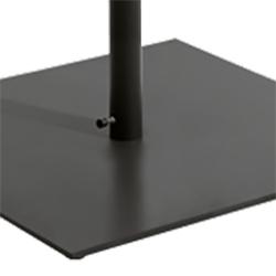 Aluminio barnizado de polvo negro