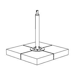 base in cemento (71 cm)