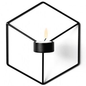 POV Candleholder W_Schwarz