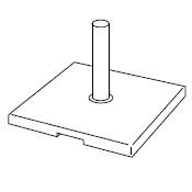 Square base of granite_64 x 64 cm
