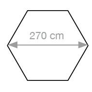 Sechskant Sonnenschirm_270 cm