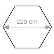 Quitasol hexagonal_220 cm