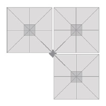 3 x 245 x 245 cm