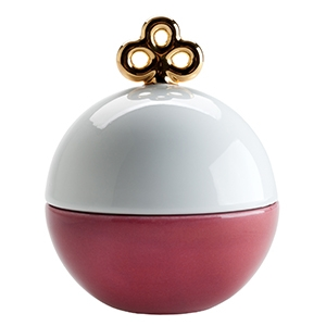 Magic ball box Cyclamen & Blanc