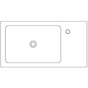 Profondità 42,8 cm_ invaso a sinistra, 1 foro