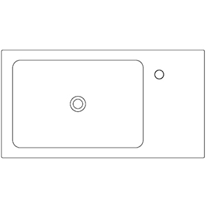 Dept 42,8 cm_ left basin, 1 hole