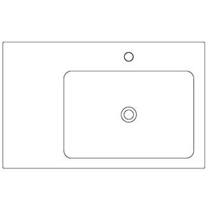 Profondità 50 cm_ invaso a destra, 1 foro