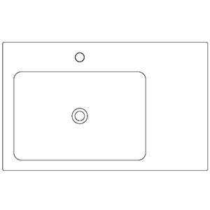 Profondità 50 cm_ invaso a sinistra, 1 foro